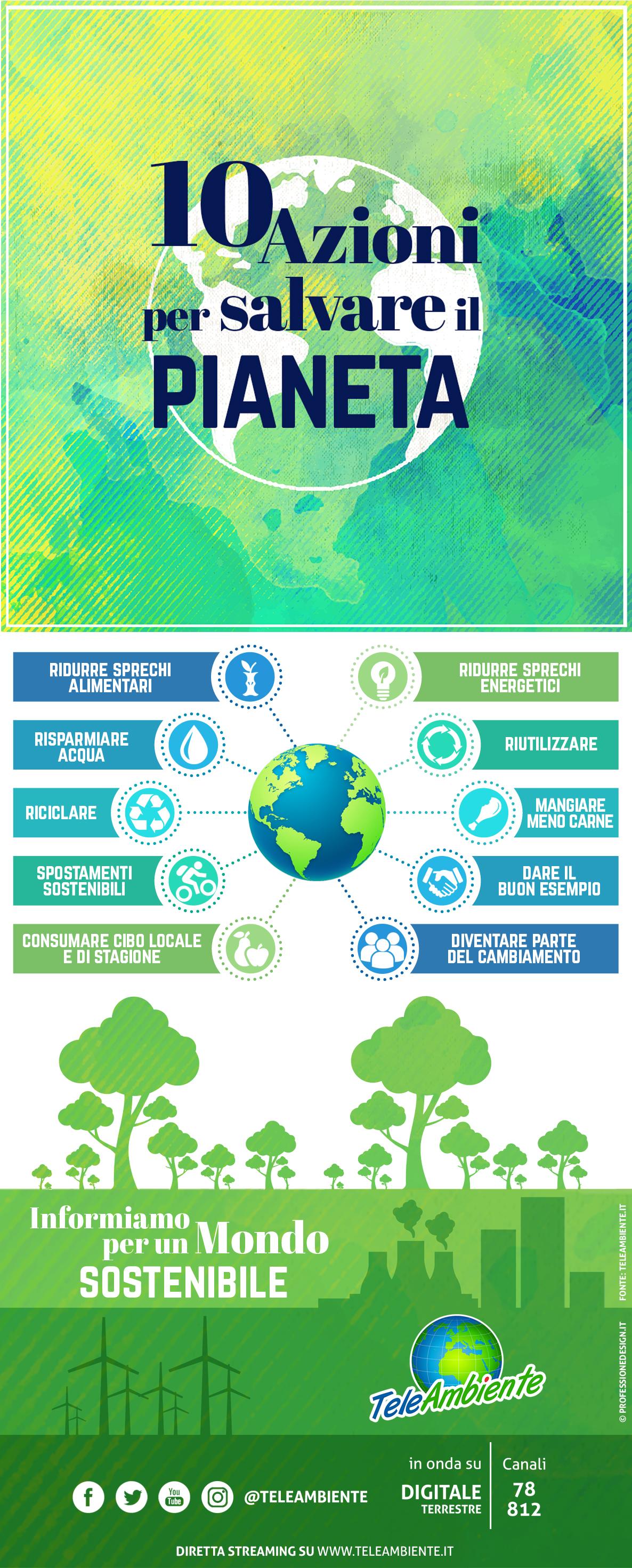 10 azioni per salvare il pianeta