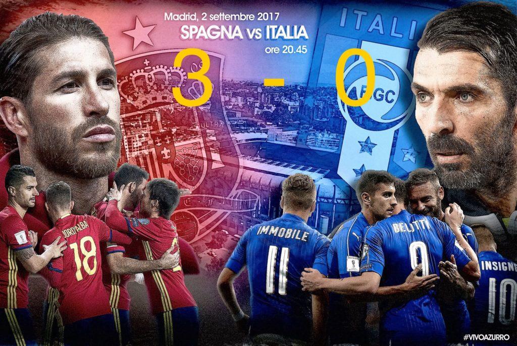 SPAGNA ITALIA 3-0. PAGELLE. AZZURRI UMILIATI VERSO LA GOGNA DEI PLAYOFF