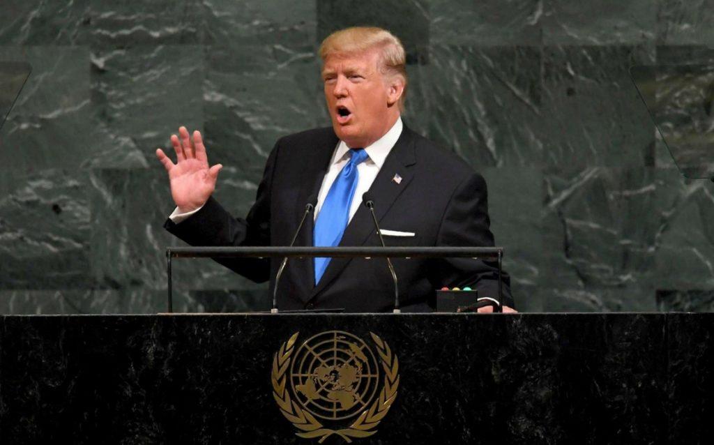 """TRUMP RILANCIA ALL'ONU LA SUA """"AMERICA FIRST"""""""
