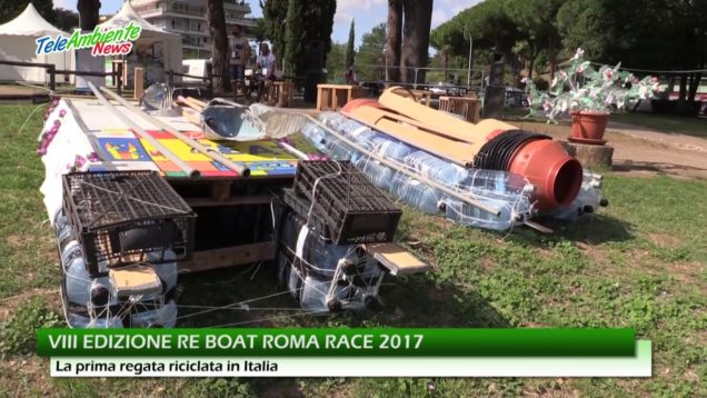 "RE BOAT RACE ROMA, LA PRIMA REGATA ""RICICLATA"" IN ITALIA"