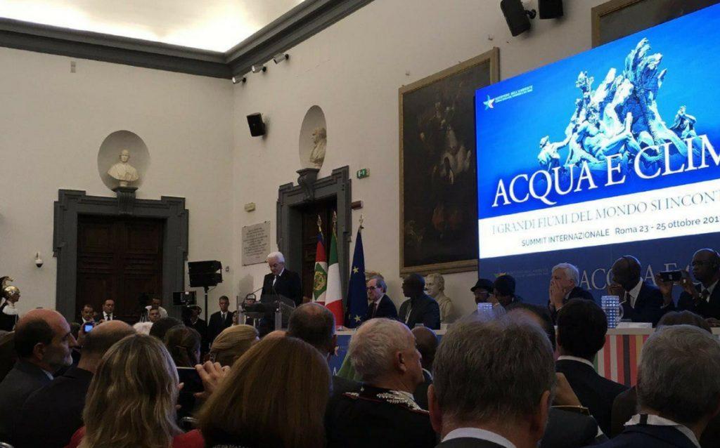 """SUMMIT """"ACQUA E CLIMA"""", ROMA. UNA VISIONE COMUNE IN VISTA DI COP23"""