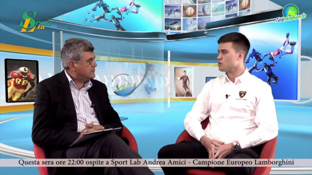 """IL PILOTA ANDREA AMICI A TELEAMBIENTE. """"CORAGGIO, TESTA, VOLONTÀ"""""""