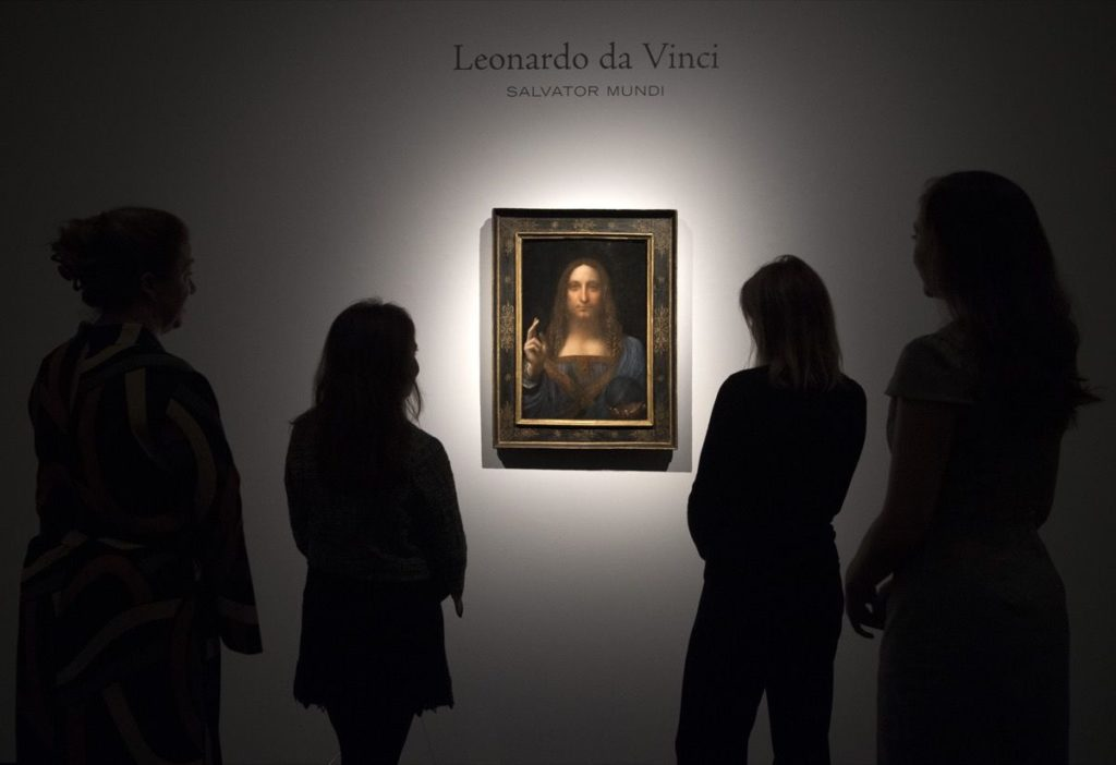 SALVATOR MUNDI DI LEONARDO, ASTA RECORD DA 450 MILIONI DOLLARI