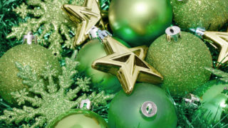 Green Christmas decoration background