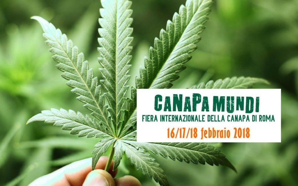 CANAPA MUNDI, ROMA. TORNA LA FIERA INTERNAZIONALE DELLA PIANTA DAI MILLE USI. PROGRAMMA E DATE