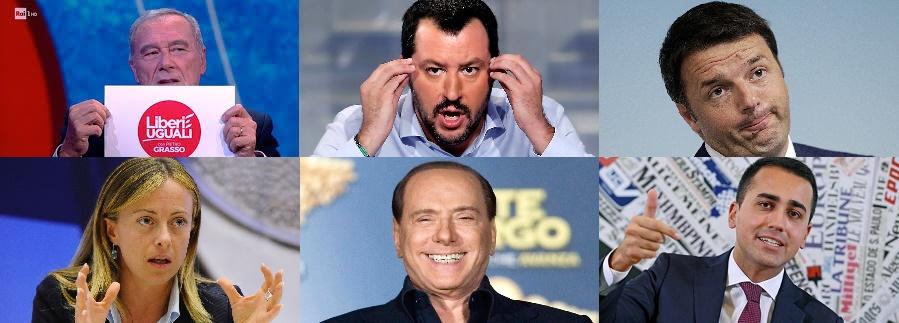 Risultati immagini per Berlusconi, Renzi, Salvini, Meloni immagini