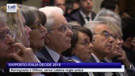 "RAPPORTO ITALIADECIDE 2018: ""SERVE CABINA REGIA SU TECNOLOGIE DUALI"""