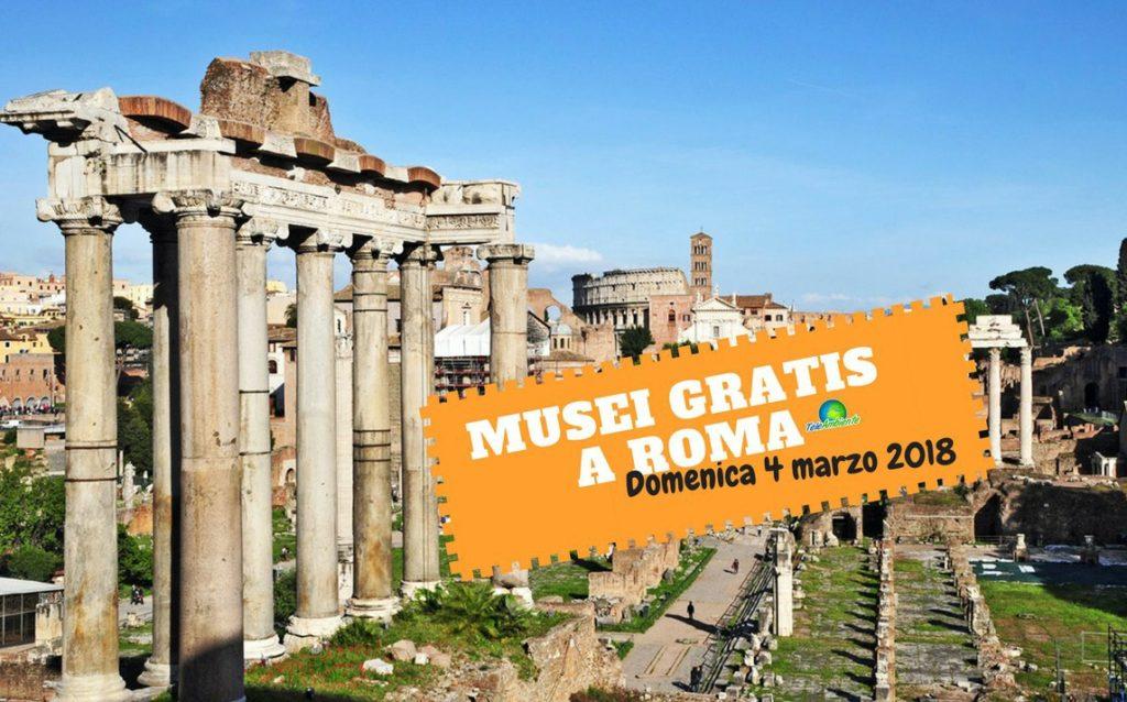 MUSEI GRATIS A ROMA DOMENICA 4 MARZO. TUTTE LE INFORMAZIONI