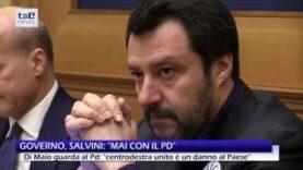 """LEGA E M5S """"BLOCCANO"""" IL NUOVO GOVERNO. DI MAIO GUARDA AL PD, SALVINI :""""M5S RISPETTI VOTO ITALIANI"""""""