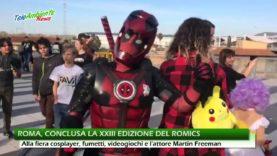 ROMICS 2018, ROMA. PROTAGONISTI DELLA XXIII EDIZIONE FUMETTI, COSPLAYER E L'ATTORE MARTIN FREEMAN