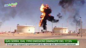 CLIMA, ISPRA: DAL 1990 LE EMISSIONI TOTALI DI GAS SERRA SONO DIMINUITE DEL 17,5%