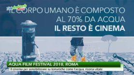 """""""AQUA FILM FESTIVAL"""" ROMA,  L'IMPORTANZA DI PROTEGGERE UNA  RISORSA PREZIOSA E VITALE"""