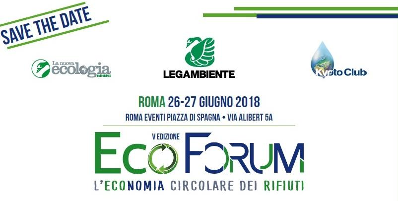 ECOFORUM 5° EDIZIONE, ROMA. L'ECONOMIA CIRCOLARE DEI RIFIUTI