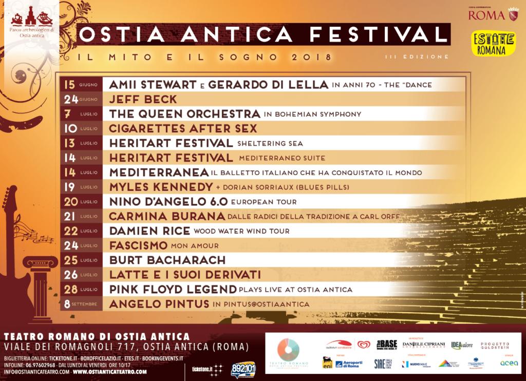OSTIA ANTICA FESTIVAL 2018, IL MITO E IL SOGNO