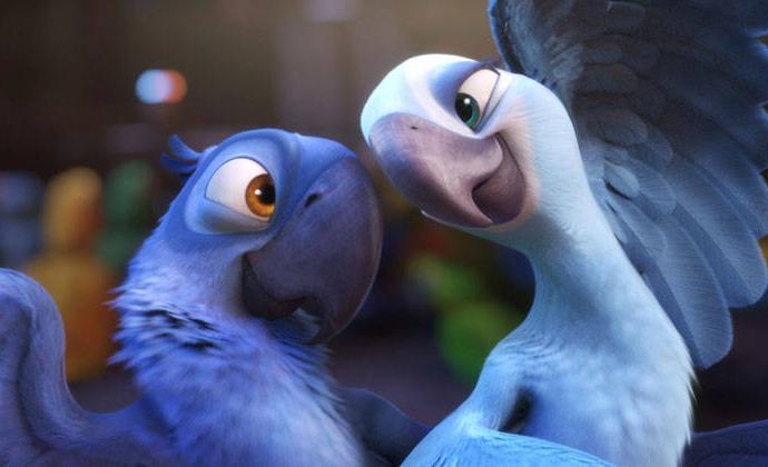Rio film cartone animato giocattoli di peluche bambole blu