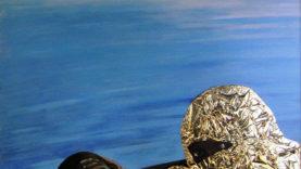 Icona Africana (100×100) tecnica mista su tela