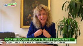 """GASDOTTO TAP, A MELEDUGNO BRUCIANO LE BANDIERE M5S. PREMIER CONTE: """"DATE LA COLPA A ME"""""""