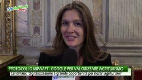 PROTOCOLLO D'INTESA MIPAAFT – GOOGLE PER PROMUOVERE  OLTRE 20MILA AGRITURISMI ITALIANI