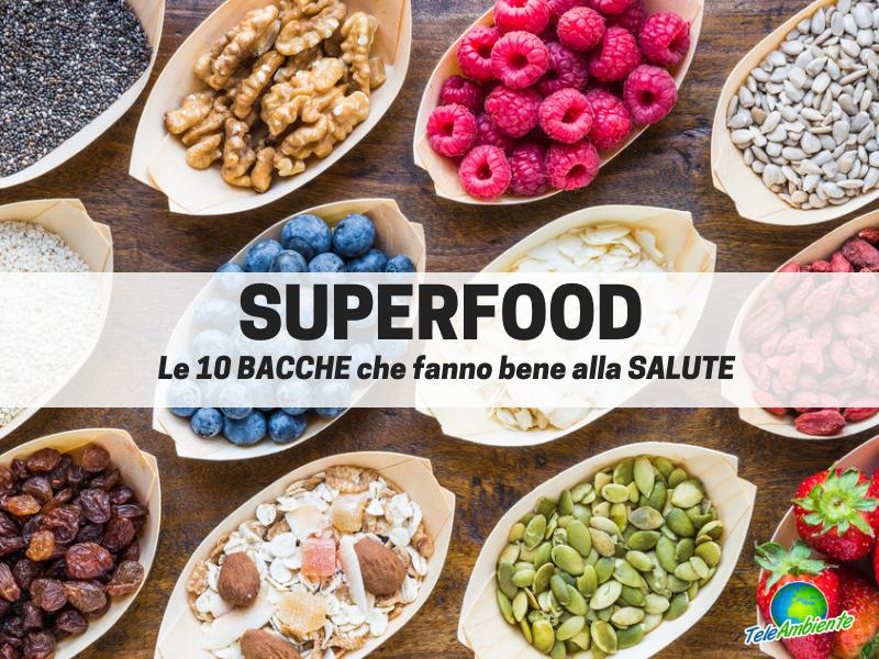 SUPERFOOD, LE 10 BACCHE CHE FANNO BENE ALLA SALUTE