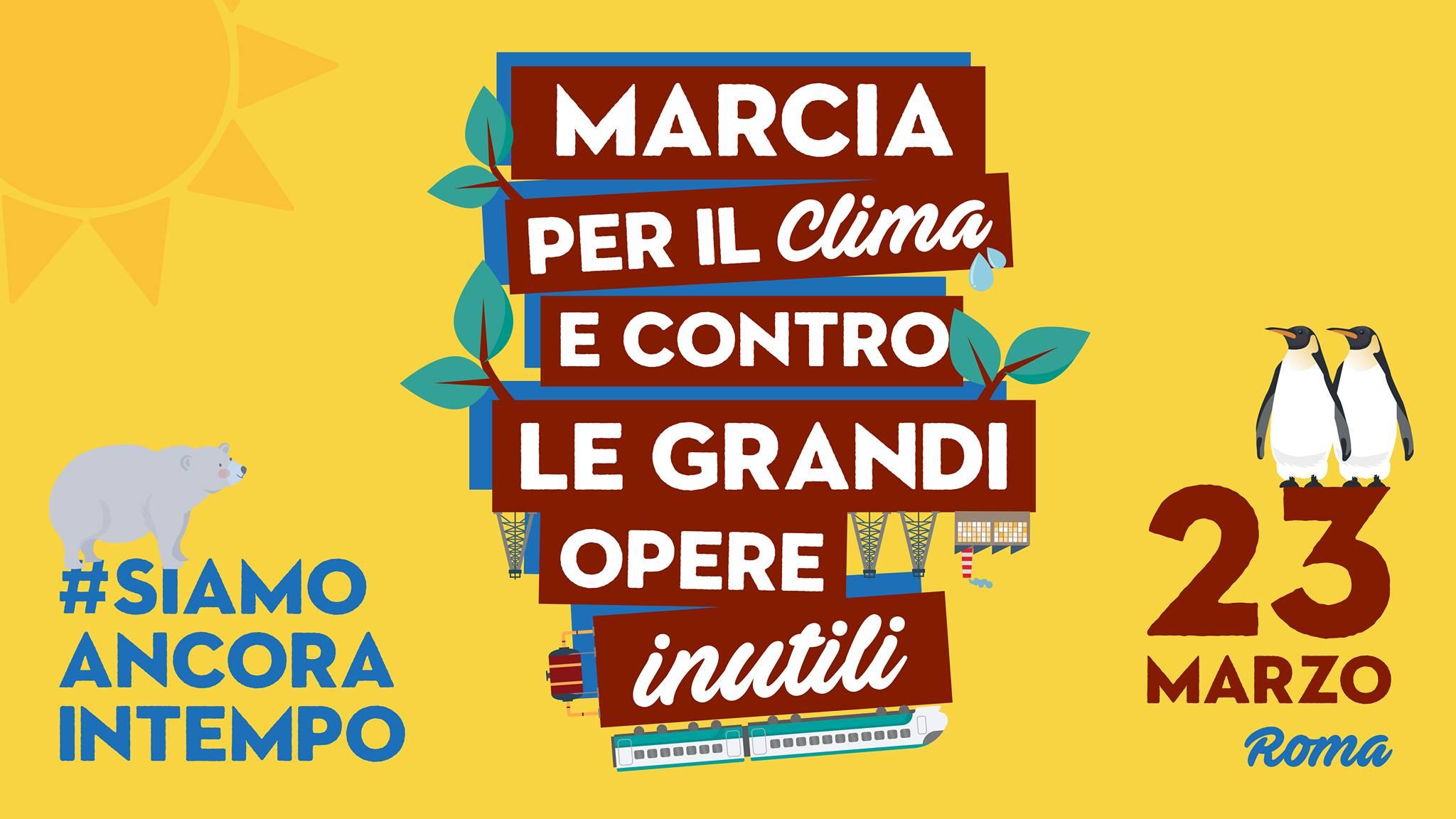 Risultati immagini per MARCIA PER IL CLIMA, CONTRO LE GRANDI OPERE INUTILI