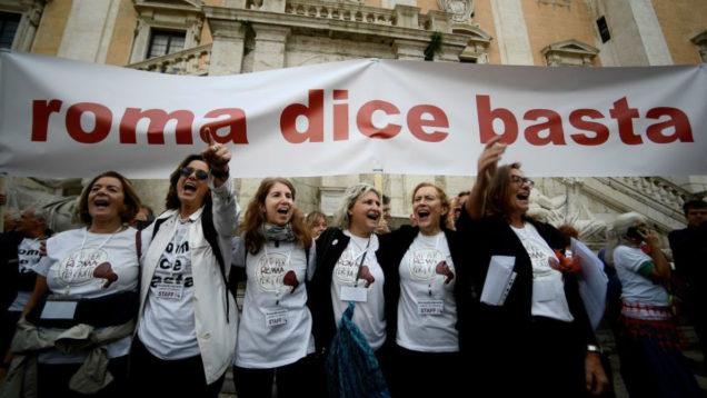 rifiuti roma dice basta
