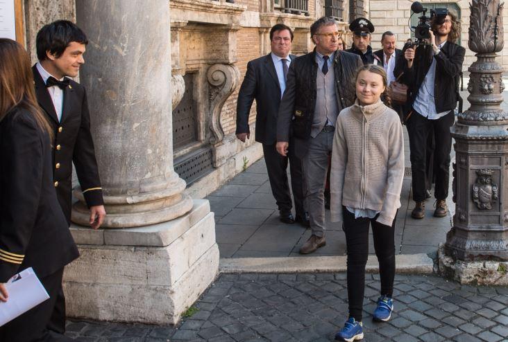 Clima, Greta Thunberg a Roma in visita al Senato VIDEO