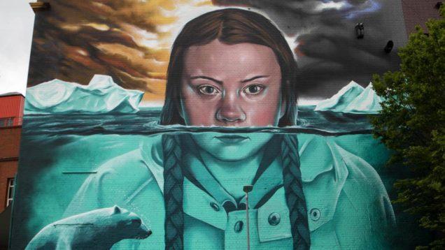 greta thunberg murales