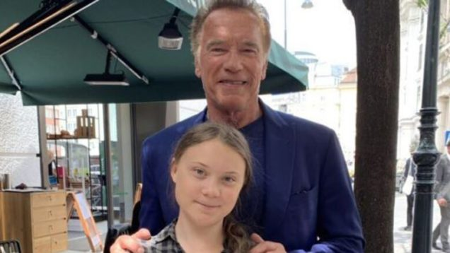 Schwarzenegger incontra Greta