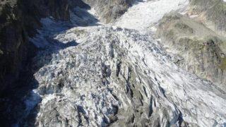 ++ Clima: rischio crollo ghiacciaio su Monte Bianco ++
