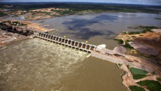 The Jirau Dam on the Madeira River.
