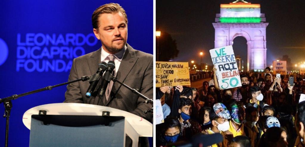 """DiCaprio a sostegno degli abitanti di New Delhi: """"Azioni immediate contro l'inquinamento"""""""
