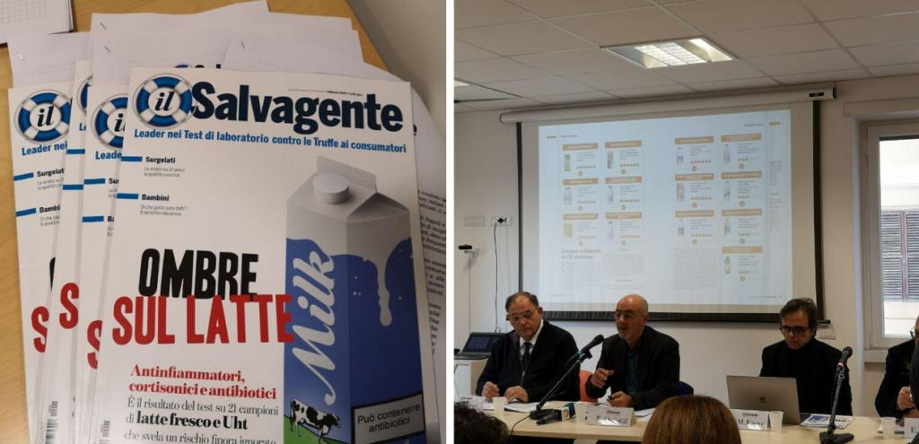Antibiotici e farmaci nel latte italiano: i risultati del test del Salvagente