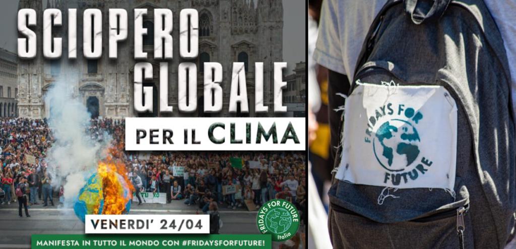 Sciopero globale per il clima, tutti in piazza il 24 aprile