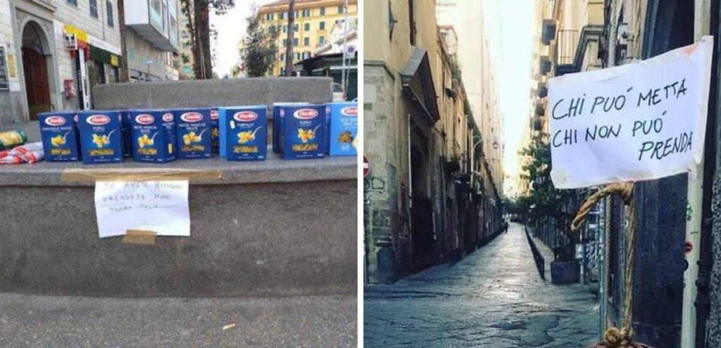 Covid-19, esempi dell'Italia che aiuta: non solo spesa sospesa e paniere solidale