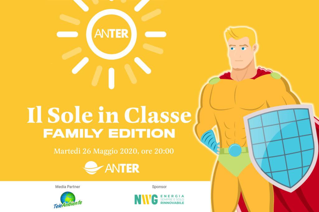 """""""Il sole in classe – Family edition"""", un progetto di ANTER. Martedì 26 maggio evento online"""