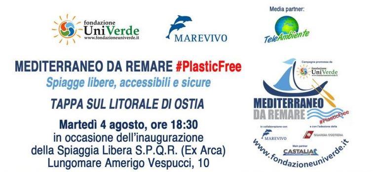 Mediterraneo da remare, sbarca ad Ostia la campagna nazionale itinerante promossa da Fondazione UniVerde