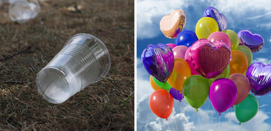 Plastica monouso, l'Italia verso il divieto per i palloncini e i bicchieri