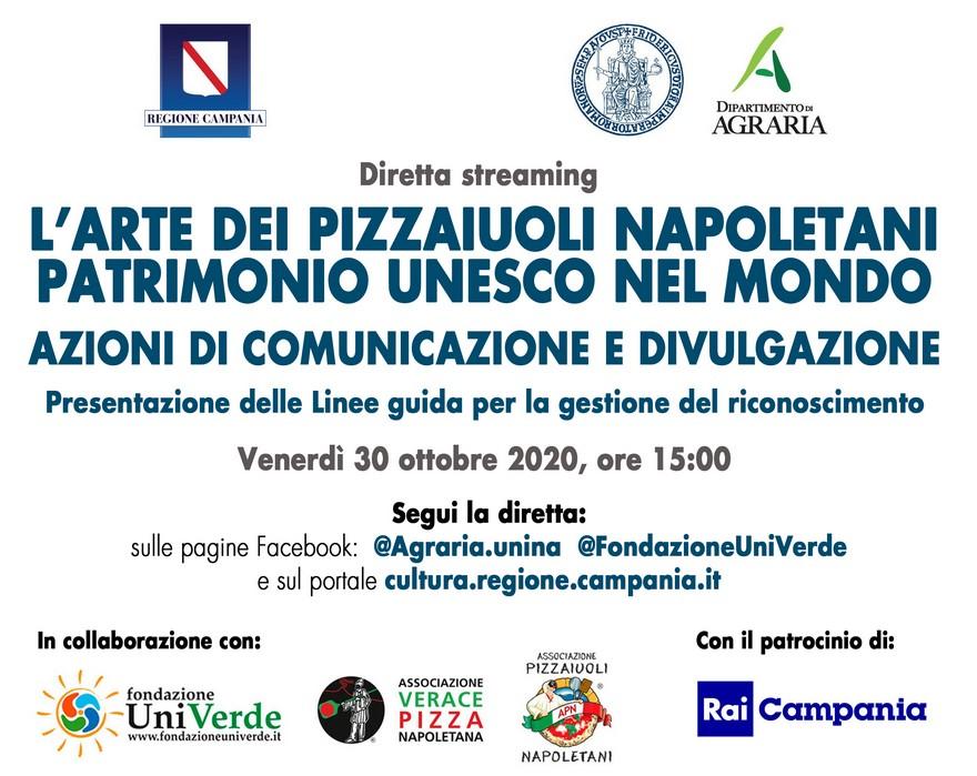 L'Arte dei Pizzaiuoli Napoletani Patrimonio Unesco nel mondo: diretta streaming venerdì 30 ottobre