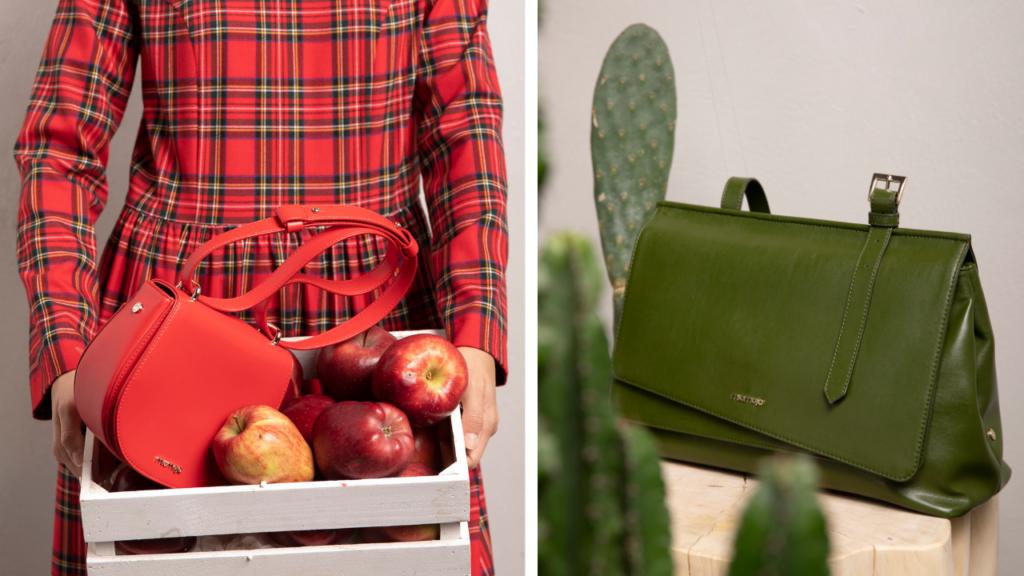 Miomojo, il made in Italy che fa bene all'ambiente: borse in pelle di cactus e scarti di mela