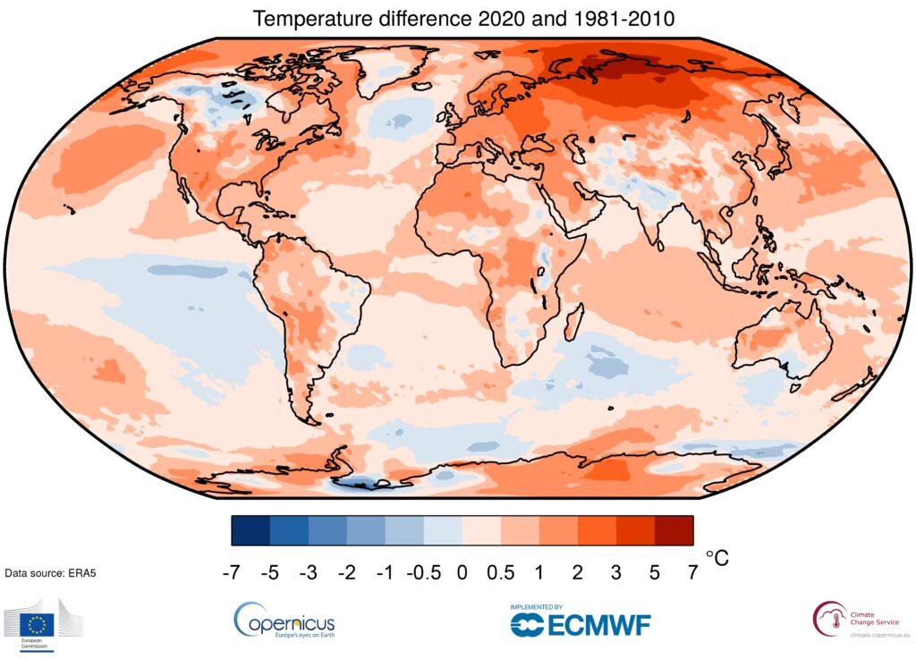 Cambiamento climatico, il 2020 l'anno più caldo mai registrato al mondo