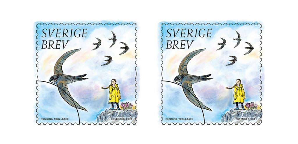 Greta Thunberg è sui nuovi francobolli svedesi a tema tutela e salvaguardia dell'ambiente