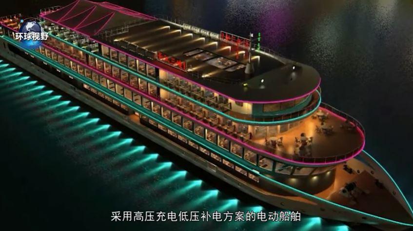 Arriva dalla Cina la nave elettrica da crociera più grande del mondo VIDEO