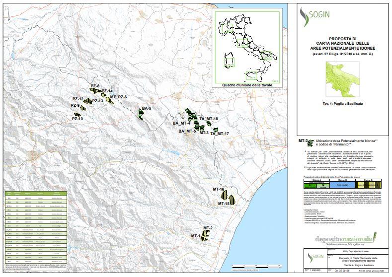 Nucleare, Puglia e Basilicata fronte comune contro il deposito nazionale