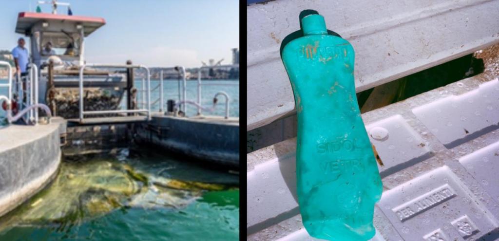 Plastica, un flacone di detergente risalente a 50 anni fa ritrovato in mare