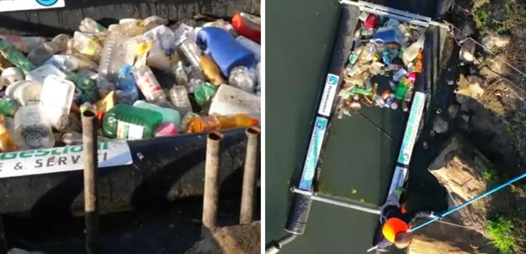 Successo delle barriere antiplastica nel Lazio, in 18 mesi raccolte 6 tonnellate di rifiuti