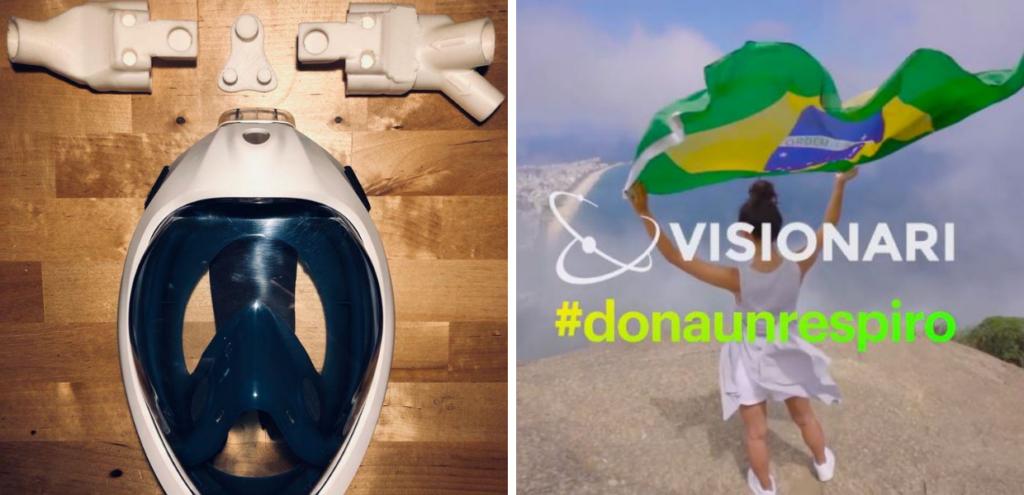 """""""Dona un respiro"""", un aiuto per i pazienti Covid negli ospedali brasiliani"""