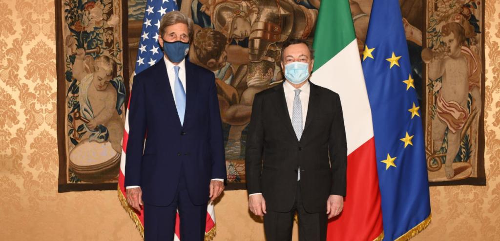 Clima, Draghi incontra Kerry: Italia e Stati Uniti insieme per affrontare l'emergenza climatica