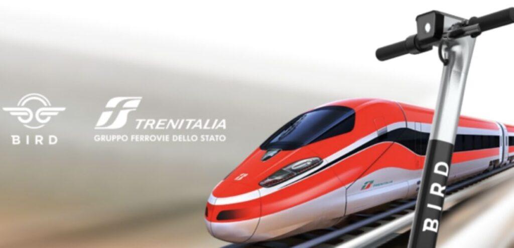 Mobilità sostenibile, accordo Bird-Trenitalia per i monopattini