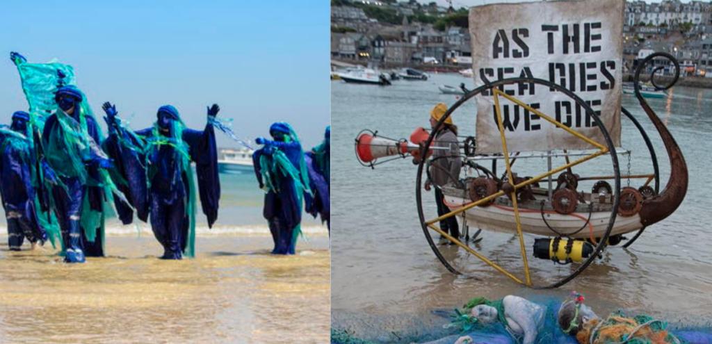 Oceani, al G7 protesta degli attivisti di Ocean Rebellion