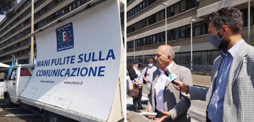 Roma, la manifestazione di emittenti e radio locali per la difesa del pluralismo informativo